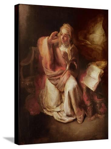 The Annunciation-Willem Drost-Stretched Canvas Print