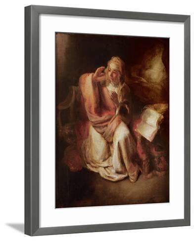 The Annunciation-Willem Drost-Framed Art Print