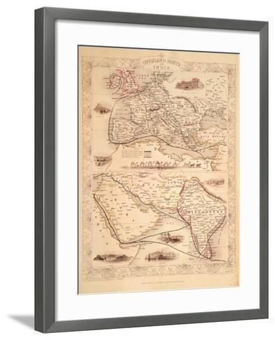 Overland Route to India-John Rapkin-Framed Art Print