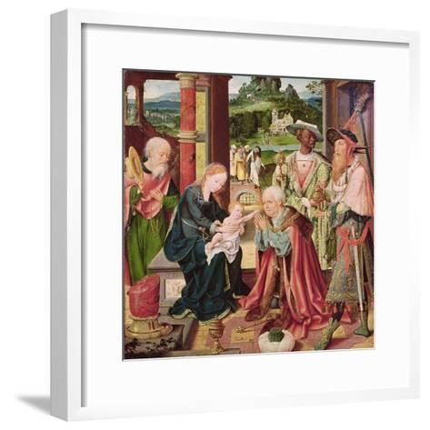 The Adoration of the Magi-Joos Van Cleve-Framed Art Print