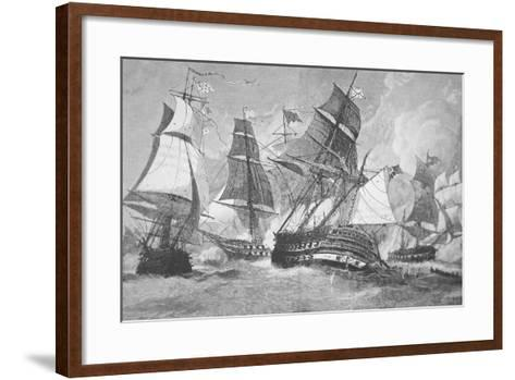 Battle of Chesapeake Bay-Julian Oliver Davidson-Framed Art Print