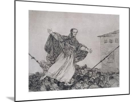 May the Cord Break, Plate 77 of 'The Disasters of War', 1810-14, Pub. 1863-Francisco de Goya-Mounted Giclee Print