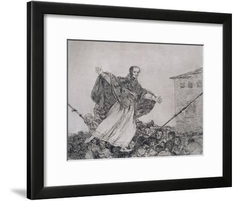 May the Cord Break, Plate 77 of 'The Disasters of War', 1810-14, Pub. 1863-Francisco de Goya-Framed Art Print