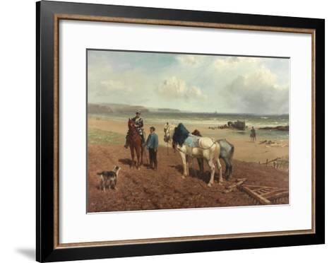 The Story of the Wreck, C.1872-Richard Beavis-Framed Art Print