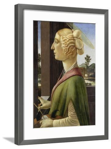 Portrait of a Young Woman with Attributes of St. Catherine, 1475-78-Sandro Botticelli-Framed Art Print