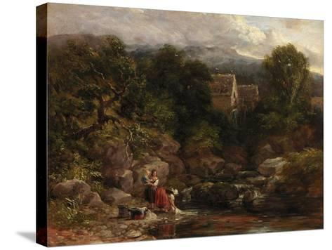 Pandy Mill, 1843-David Cox-Stretched Canvas Print