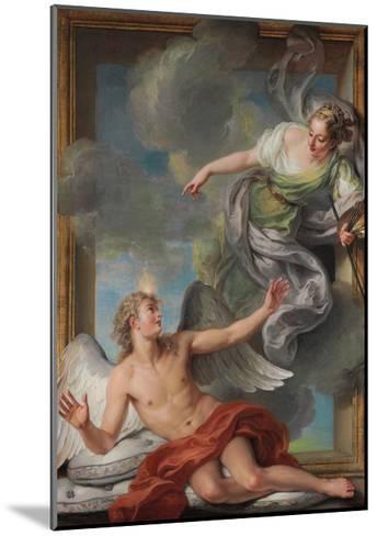 Painting Awakening Sleeping Genius-Charles Antoine Coypel-Mounted Giclee Print