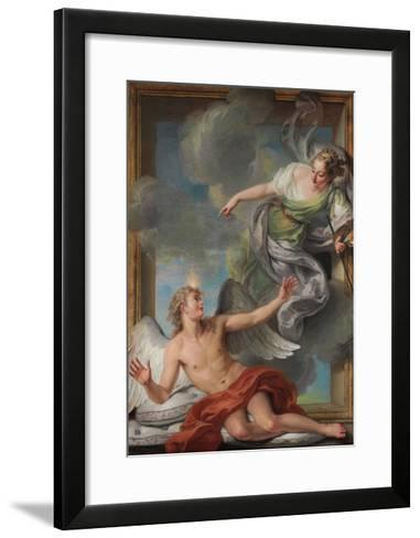 Painting Awakening Sleeping Genius-Charles Antoine Coypel-Framed Art Print