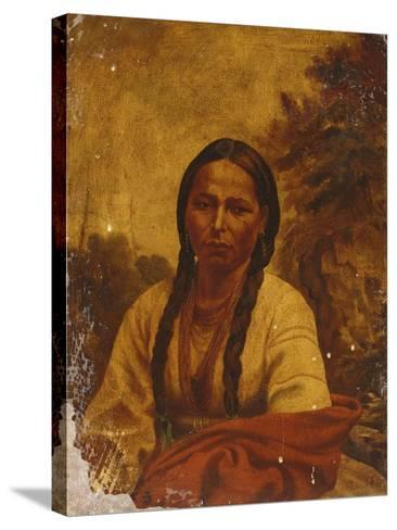 A Dakota Indian Woman-William Armstrong-Stretched Canvas Print