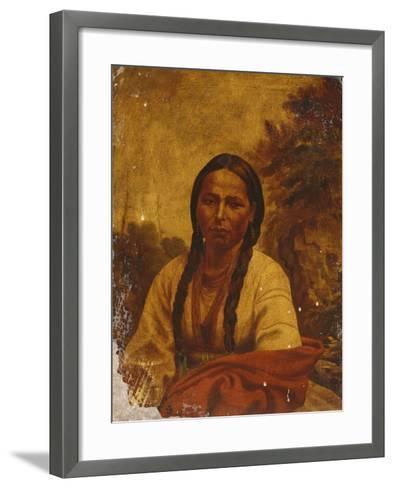 A Dakota Indian Woman-William Armstrong-Framed Art Print