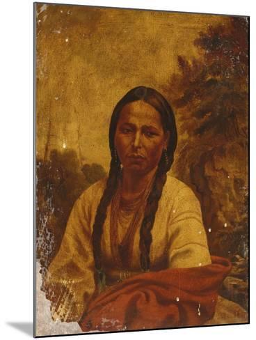 A Dakota Indian Woman-William Armstrong-Mounted Giclee Print