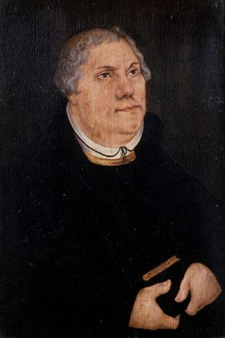 Martin Luther, 1539-Lucas Cranach the Elder-Stretched Canvas Print