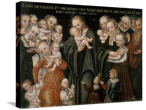 Jesus Blessing the Children-Lucas Cranach the Elder-Stretched Canvas Print