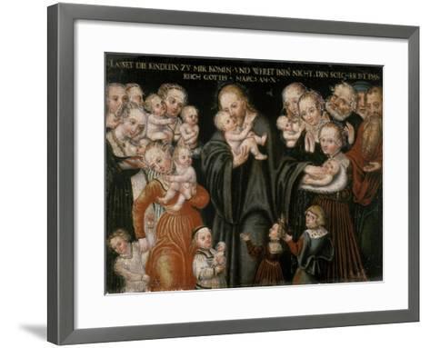 Jesus Blessing the Children-Lucas Cranach the Elder-Framed Art Print
