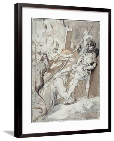 Christ Carrying the Cross-Sir Anthony Van Dyck-Framed Art Print