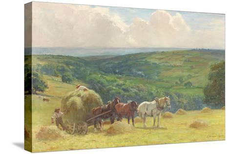 Haymaking, 1900-John Atkinson-Stretched Canvas Print