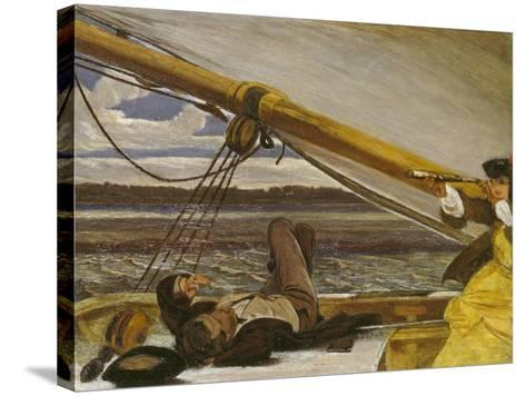 Outward Bound, 19th Century-Augustus Leopold Egg-Stretched Canvas Print