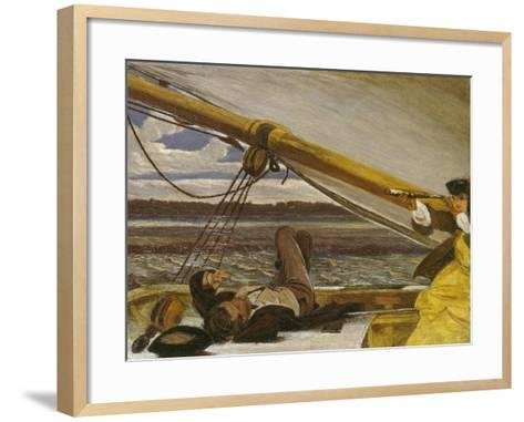 Outward Bound, 19th Century-Augustus Leopold Egg-Framed Art Print