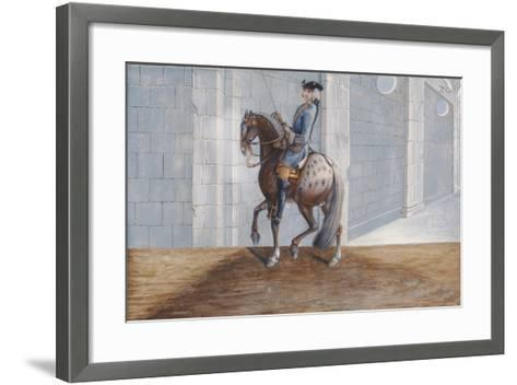 No. 20 a Dapple Grey Horse of the Spanish Riding School Performing the 'Volte' Dressage Step-Baron Reis d' Eisenberg-Framed Art Print