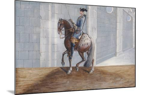 No. 20 a Dapple Grey Horse of the Spanish Riding School Performing the 'Volte' Dressage Step-Baron Reis d' Eisenberg-Mounted Giclee Print