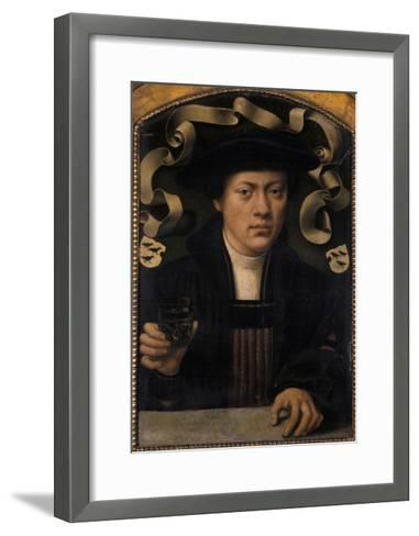 Portrait of a Young Man, 1501-50-Bartholomaeus Bruyn-Framed Art Print