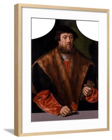 Portrait of a Nobleman, 1544-Bartholomaeus Bruyn-Framed Art Print