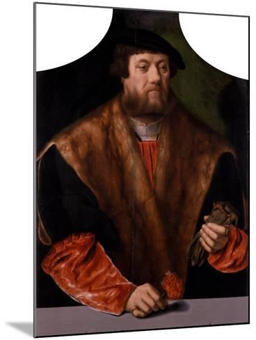 Portrait of a Nobleman, 1544-Bartholomaeus Bruyn-Mounted Giclee Print