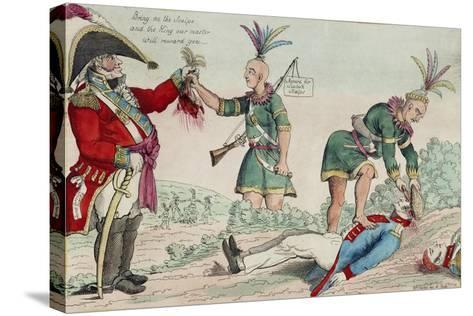 A Scene on the Frontiers as Practised by the Humane British and their Worthy Allies, Pub. 1812-William Charles-Stretched Canvas Print