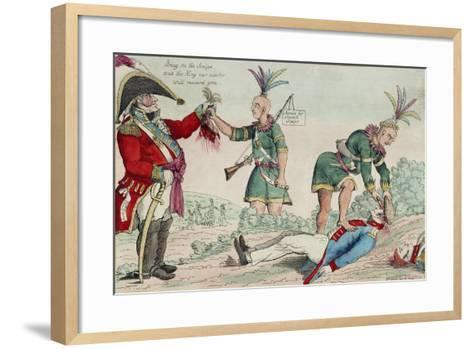 A Scene on the Frontiers as Practised by the Humane British and their Worthy Allies, Pub. 1812-William Charles-Framed Art Print