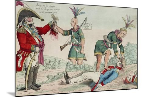 A Scene on the Frontiers as Practised by the Humane British and their Worthy Allies, Pub. 1812-William Charles-Mounted Giclee Print