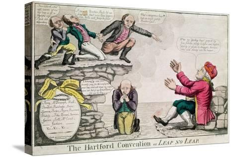 The Hartford Convention, or 'Leap No Leap', February 1815-William Charles-Stretched Canvas Print