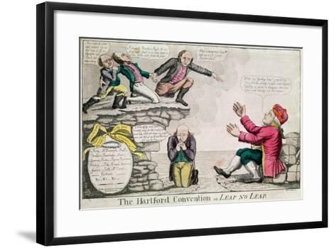 The Hartford Convention, or 'Leap No Leap', February 1815-William Charles-Framed Art Print