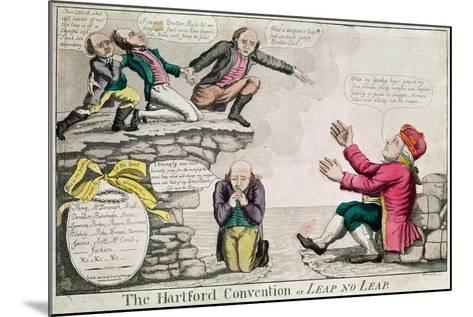 The Hartford Convention, or 'Leap No Leap', February 1815-William Charles-Mounted Giclee Print