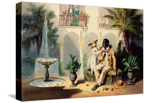 Tom and Evangeline-Adolphe Jean-baptiste Bayot-Stretched Canvas Print