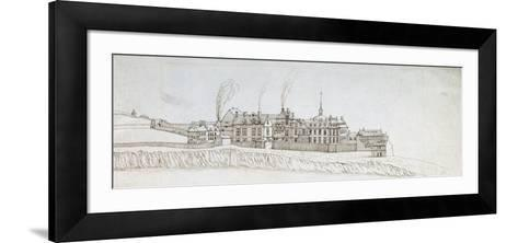 The Abbey of Montmartre, with Chimneys Smoking-Noel Gasselin-Framed Art Print