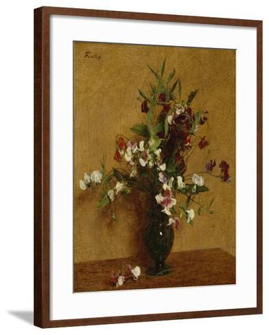 Sweet Peas; Pois De Senteur, 1888-Ignace Henri Jean Fantin-Latour-Framed Art Print