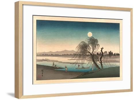 Fukeiga-Utagawa Hiroshige-Framed Art Print