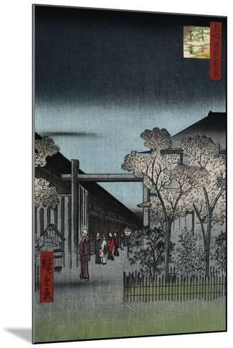 Dawn in the Yoshiwara', from the Series 'One Hundred Views of Famous Places in Edo'-Utagawa Hiroshige-Mounted Giclee Print
