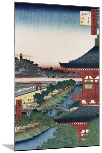 Pagoda of Zojoji, Akabane', from the Series 'One Hundred Views of Famous Places in Edo'-Utagawa Hiroshige-Mounted Giclee Print