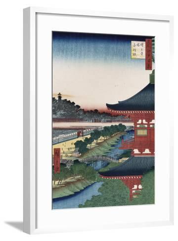 Pagoda of Zojoji, Akabane', from the Series 'One Hundred Views of Famous Places in Edo'-Utagawa Hiroshige-Framed Art Print