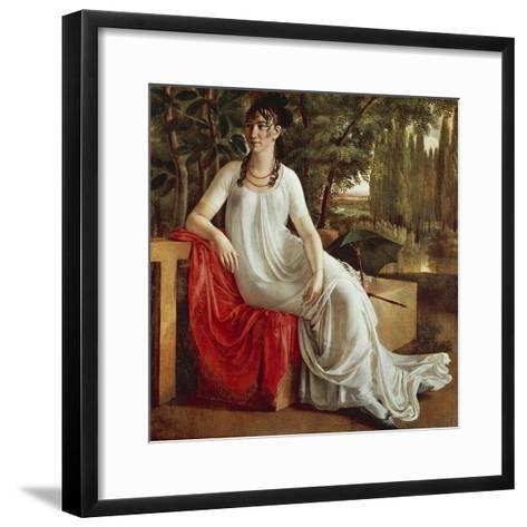 Mrs. Wilhelmine Von Cotta-Christian Gottlieb Schick-Framed Art Print