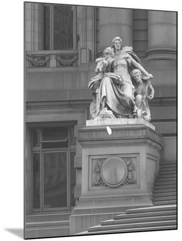 America' Statue Outside the Custom House, New York City, C.1912-William Davis Hassler-Mounted Photographic Print