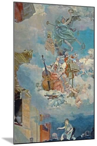 Music across the Ages, Ceiling of the Salle Des Fetes (Ballroom), 1891-Henri Gervex-Mounted Giclee Print