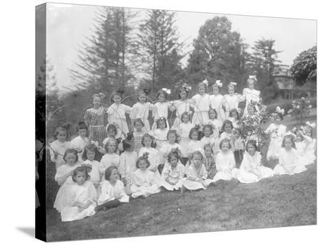 Group Portrait of Unidentified Little Girls-William Davis Hassler-Stretched Canvas Print