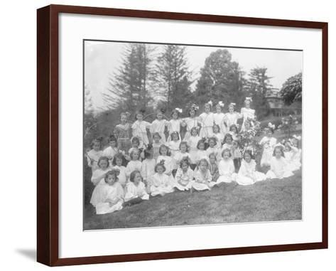 Group Portrait of Unidentified Little Girls-William Davis Hassler-Framed Art Print