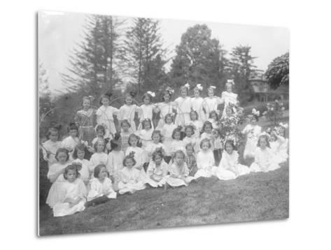 Group Portrait of Unidentified Little Girls-William Davis Hassler-Metal Print