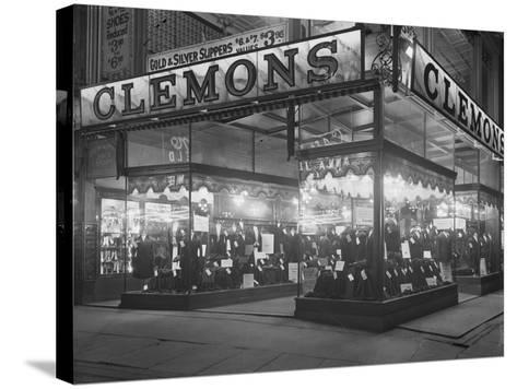 Sign and Storefront for Clemons the Tailor, New York City, January 6, 1917-William Davis Hassler-Stretched Canvas Print