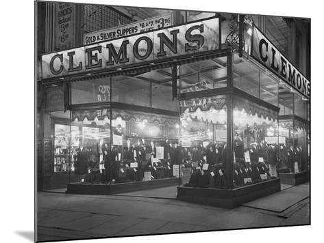 Sign and Storefront for Clemons the Tailor, New York City, January 6, 1917-William Davis Hassler-Mounted Photographic Print