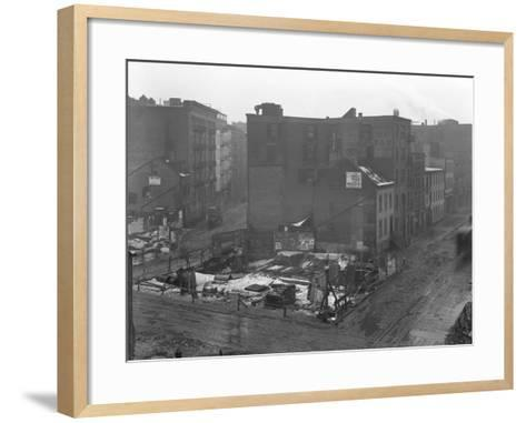 High-Angle View of the Intersections of Downing Street-William Davis Hassler-Framed Art Print
