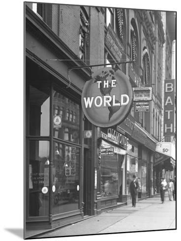 Sign for 'The World,' at 155 W. 125th Street, New York City, June 15, 1916-William Davis Hassler-Mounted Photographic Print